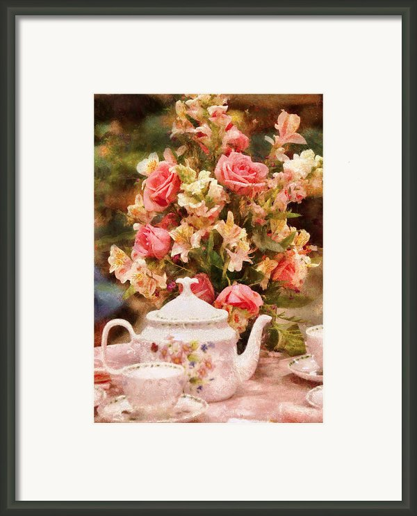 Kettle - More Tea Milady  Framed Print By Mike Savad