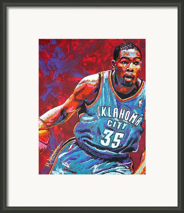 Kevin Durant 2 Framed Print By Maria Arango