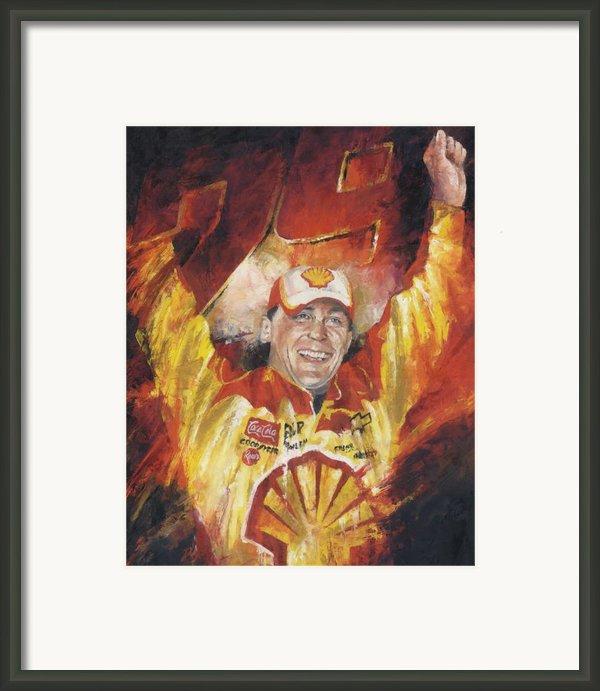 Kevin Harvick Framed Print By Christiaan Bekker