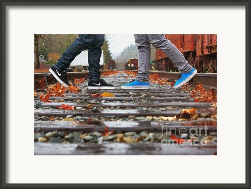 Kicks On Tracks Ii Framed Print By Christi Warn