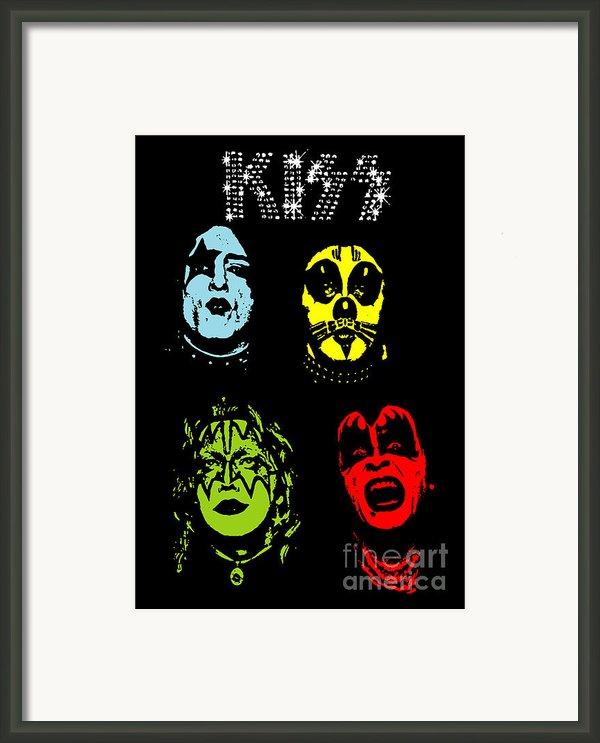 Kiss No.02 Framed Print By Caio Caldas