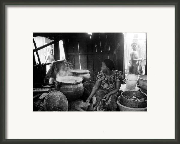 Kitchen And Fat Pots Framed Print By Muyiwa Osifuye