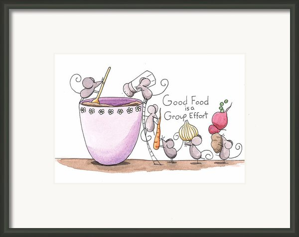 Kitchen Art Cooking Mice Framed Print By Christy Beckwith