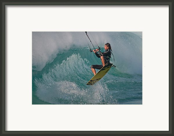 Kiting Los Lances Framed Print By Ajm Photography