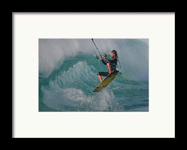 Kiting Los Lances Framed Print By Ajm Photography