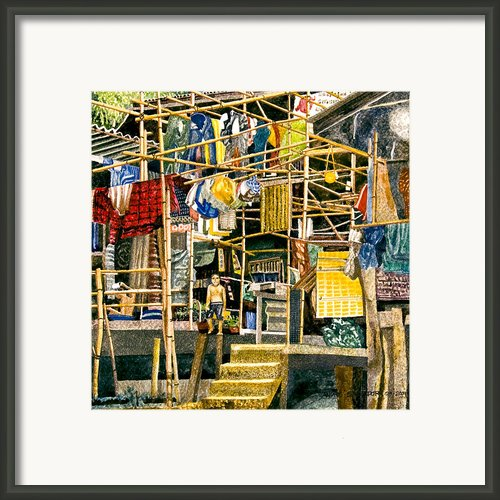 Klong House Framed Print By Andre Salvador