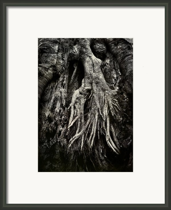Kneeling At The Feet Of The Green Man Framed Print By Rebecca Sherman