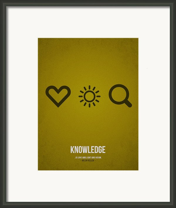 Knowledge Framed Print By Aged Pixel