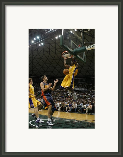 Kobe Bryant Dunk Framed Print By Mountain Dreams