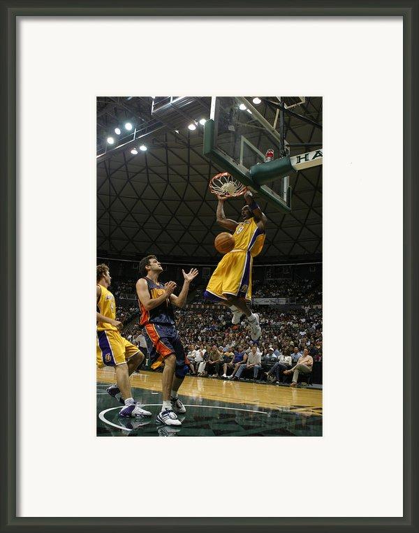 Kobe Bryant Dunk Framed Print By Mountain Dreams