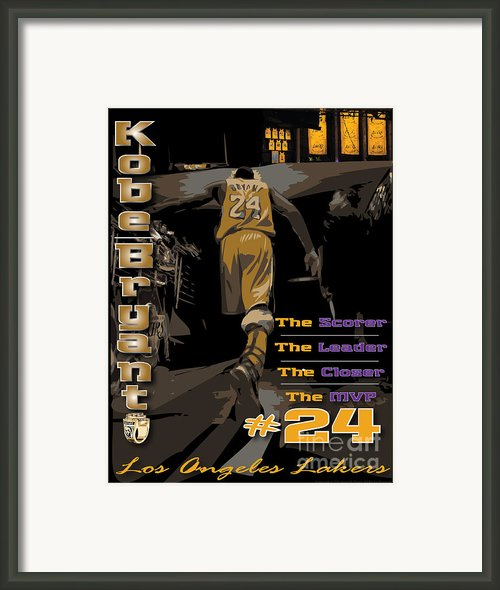 Kobe Bryant Game Over Framed Print By Israel Torres