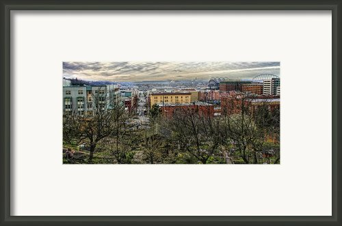Kobe Garden Seattle Framed Print By Steve Leach