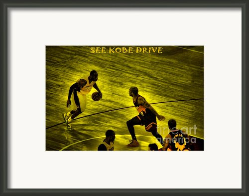 Kobe Lakers Framed Print By Rj Aguilar