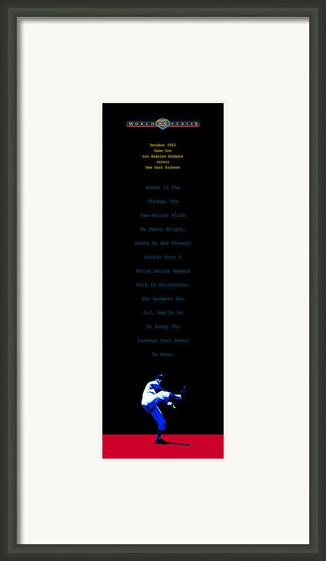 Koufax Dominates Yankees Framed Print By Ron Regalado