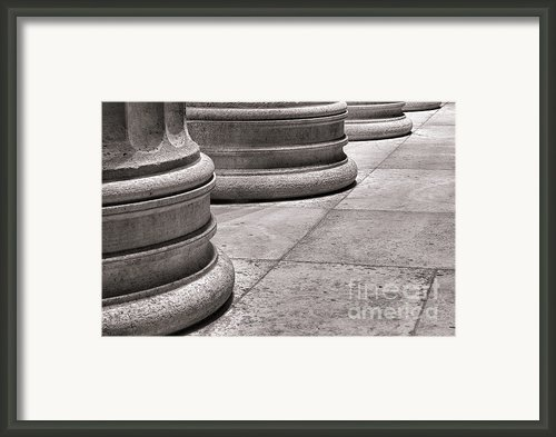 Krepis And Stylobates Framed Print By Olivier Le Queinec