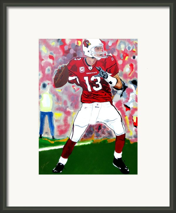 Kurt Warner-in The Zone Framed Print By Bill Manson