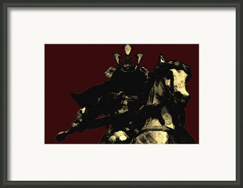 Kusunoki Masahige In Battle Framed Print By Jeff Dottavio