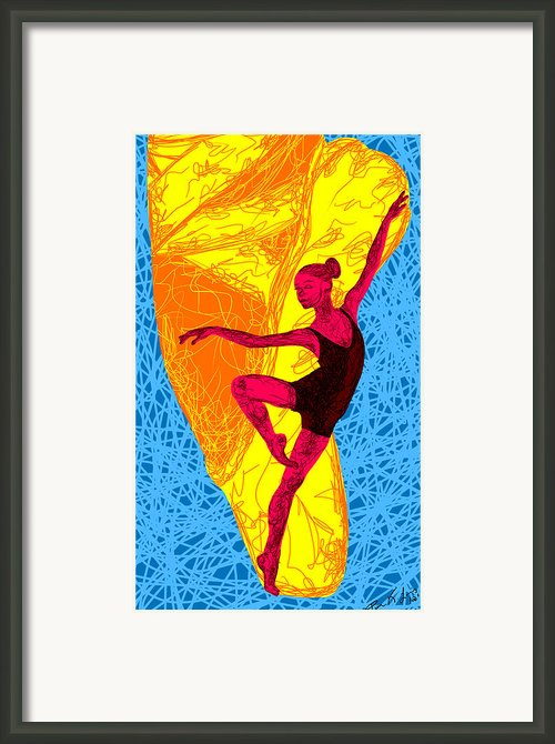 La Ballerina Du Juilliard Framed Print By Kenal Louis