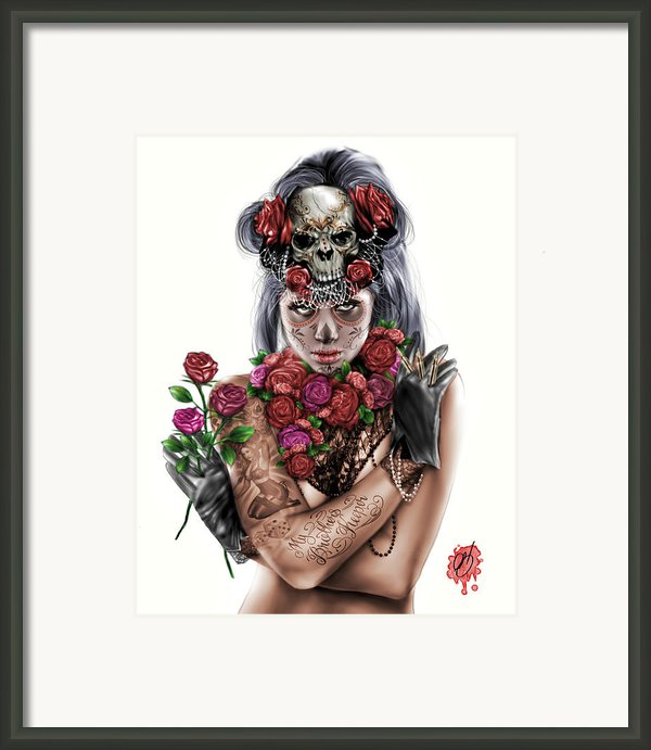La Calavera Catrina Framed Print By Pete Tapang