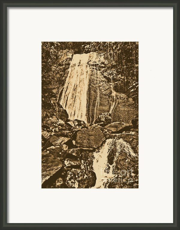 La Coca Falls El Yunque National Rainforest Puerto Rico Prints Rustic Framed Print By Shawn Obrien