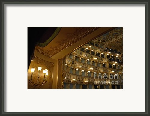 La Fenice Opera Theater Framed Print By Sami Sarkis