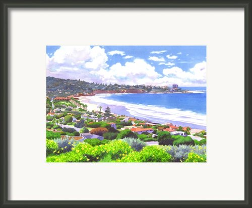 La Jolla California Framed Print By Mary Helmreich