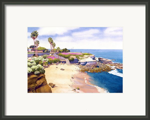 La Jolla Cove Framed Print By Mary Helmreich