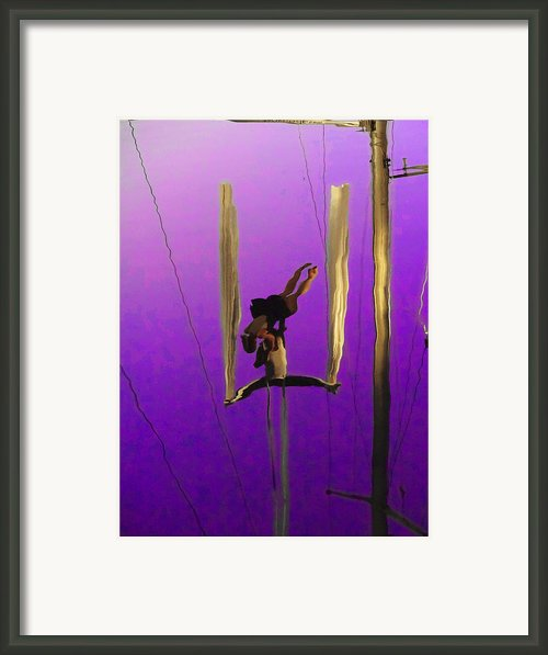 La Loupiote In Lavender Framed Print By Anne Mott