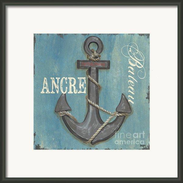 La Mer Ancre Framed Print By Debbie Dewitt