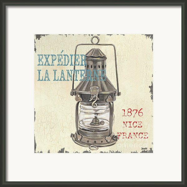 La Mer Lanterne Framed Print By Debbie Dewitt