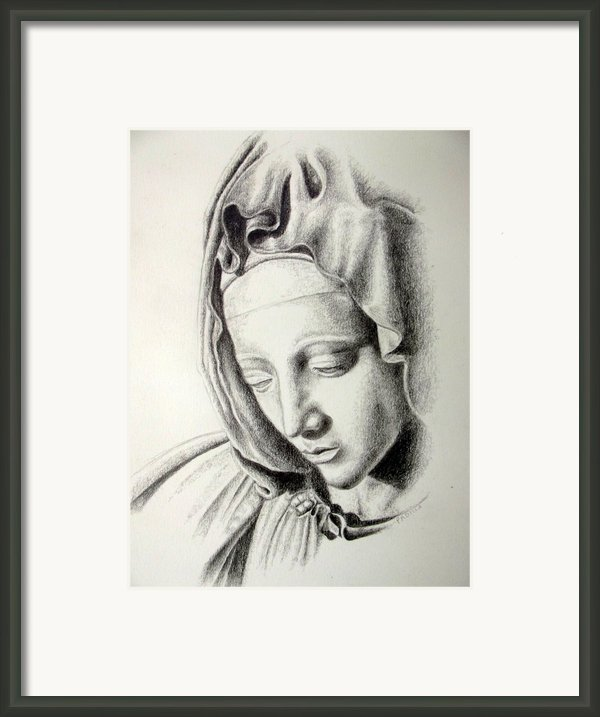 La Pieta Madonna Framed Print By Heather Calderon