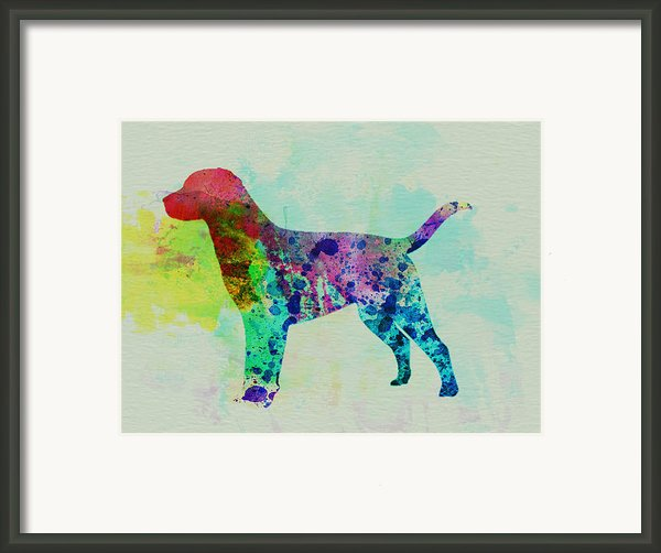 Labrador Retriever Watercolor Framed Print By Naxart Studio