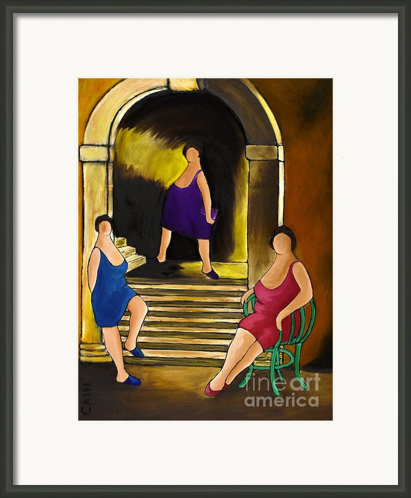 Ladies Of The Night Framed Print By William Cain