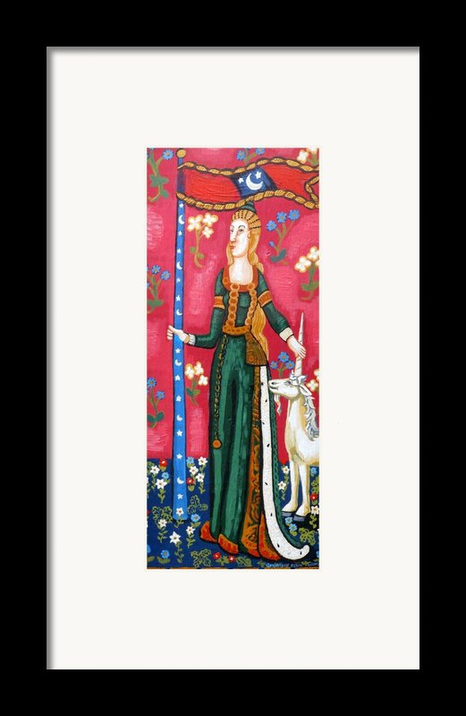 Lady And The Unicorn La Pointe Framed Print By Genevieve Esson