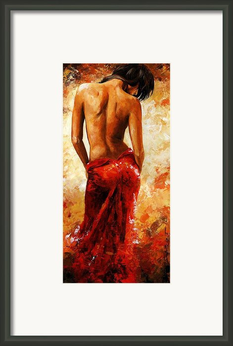 Lady In Red 27 Framed Print By Emerico Imre Toth