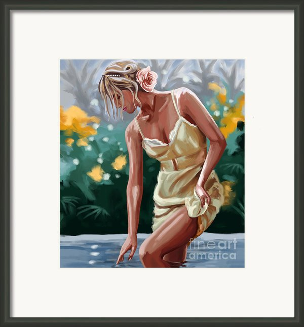 Lady In The Lake Framed Print By Tim Gilliland