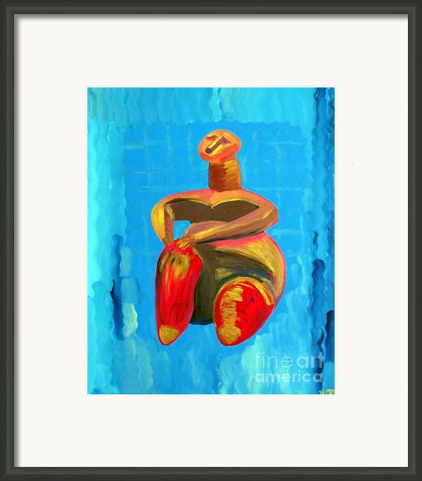 Lady Of Cucuteni Framed Print By Vicky Tarcau