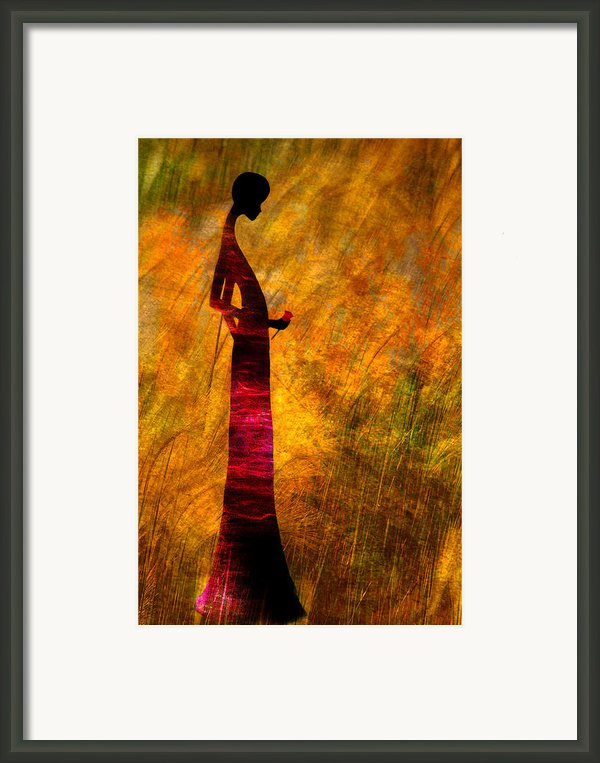 Lady Framed Print By Paul St George