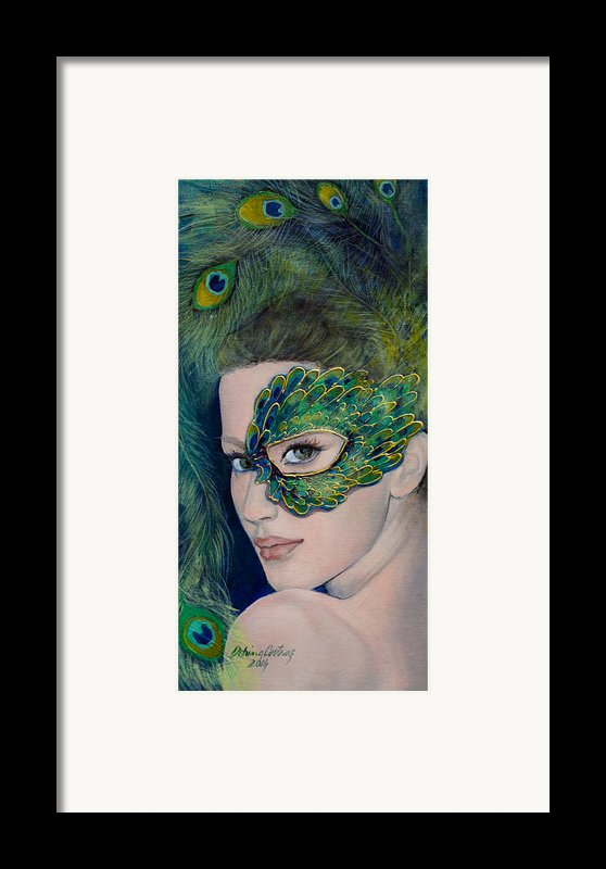 Lady Peacock Framed Print By Dorina  Costras