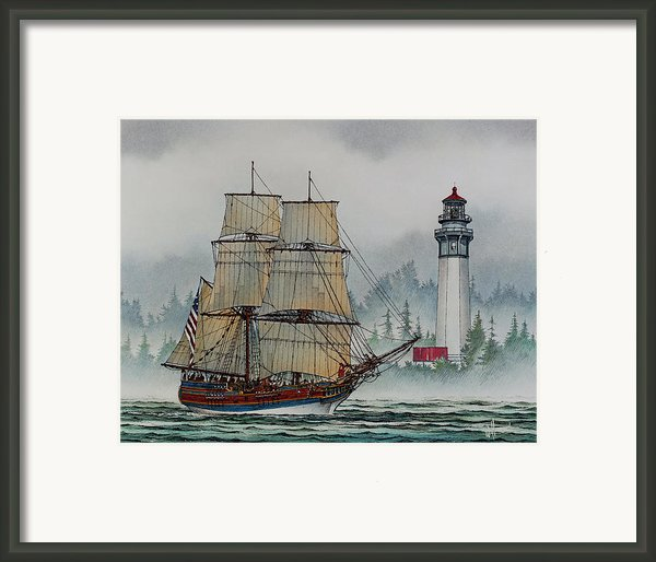 Lady Washington At Grays Harbor Framed Print By James Williamson