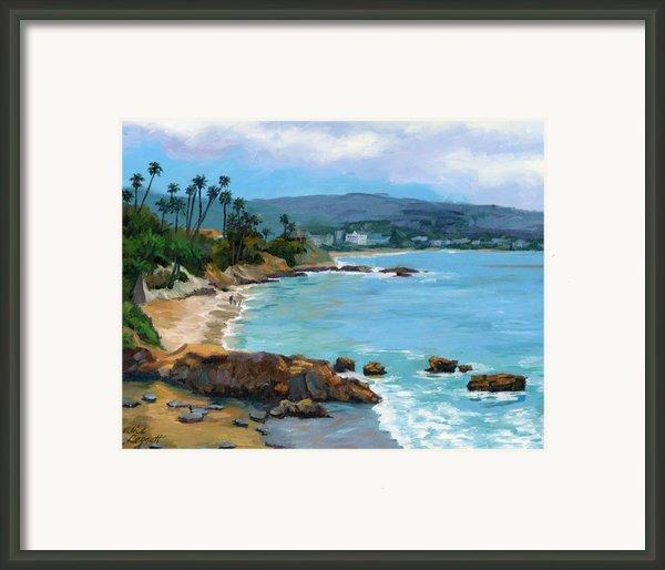 Laguna Beach Winter Framed Print By Alice Leggett