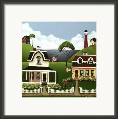 Lake Cottages Framed Print By Catherine Holman