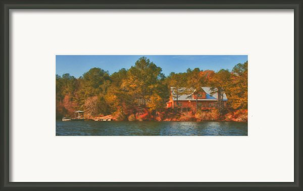 Lake House Framed Print By Brenda Bryant