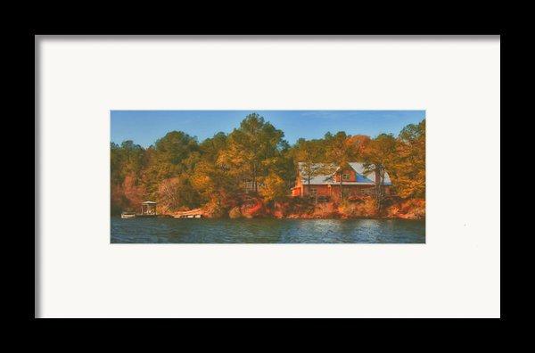 Lake House Framed Print By Brenda Bryant