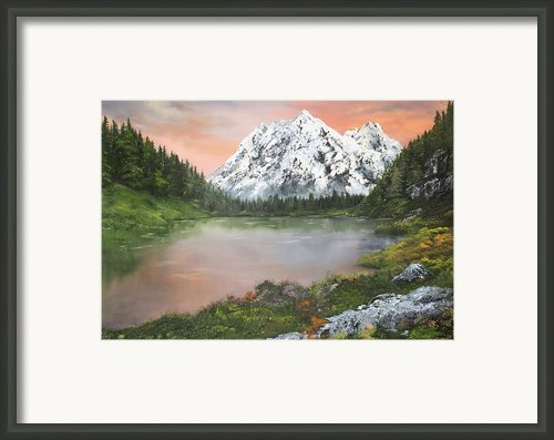 Lake In Austria Framed Print By Jean Walker
