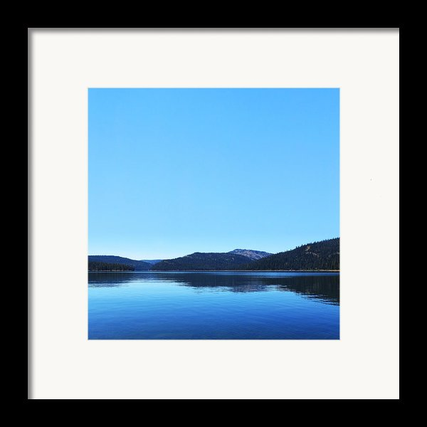 Lake In California Framed Print By Dean Drobot