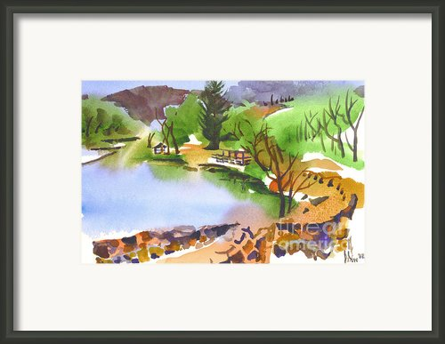 Lake Killarney With Rock Wall Framed Print By Kip Devore