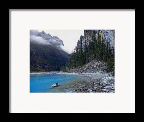 Lake Louise North Shore - Canada Rockies Framed Print By Daniel Hagerman
