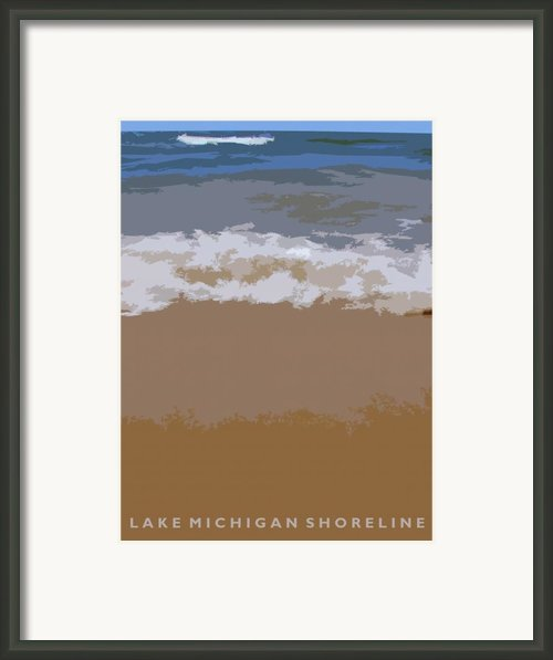 Lake Michigan Shoreline Framed Print By Michelle Calkins