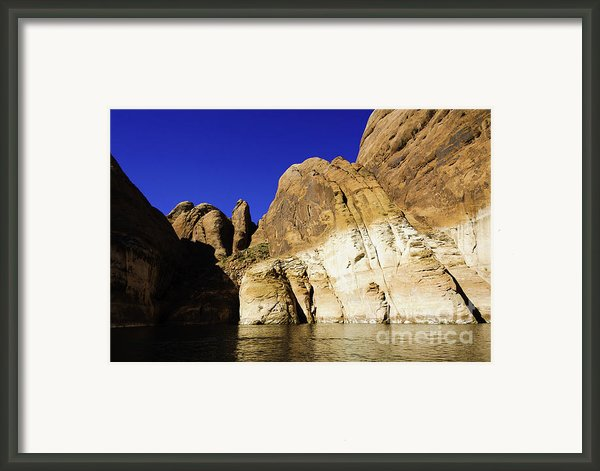 Lake Powell Rock And Sky Framed Print By Thomas R Fletcher